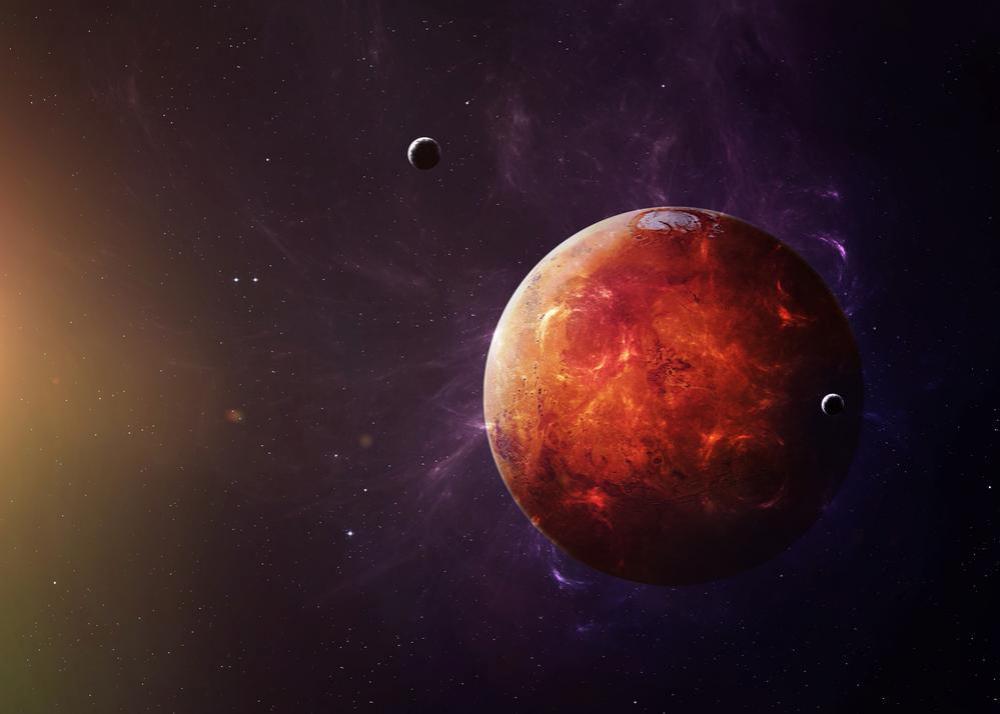 Szeptember 5-én a Mars a Szűz jegyébe lépett