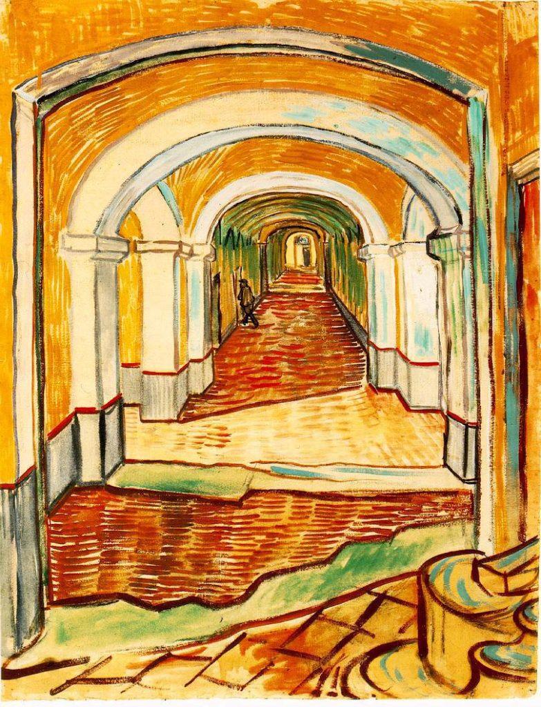 Vincent van Gogh A St. Rémy kolostor kórházának folyosója