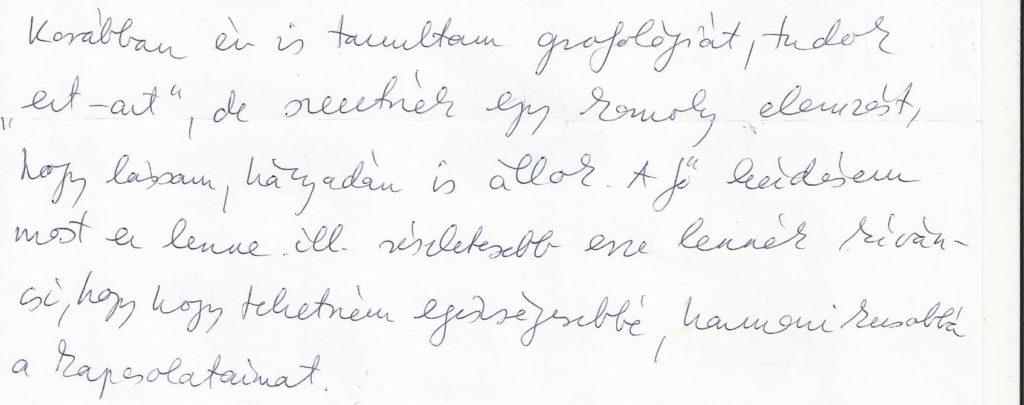 40 éves Vízöntő napjegyű nő kézírása