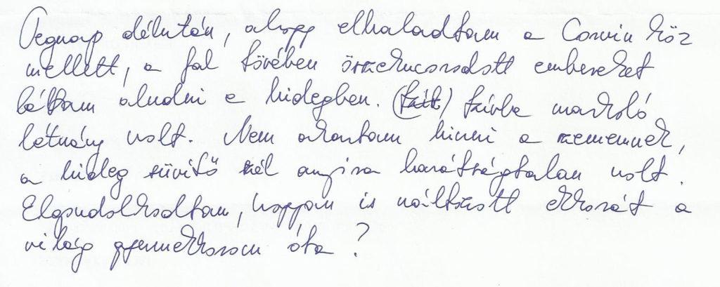48 éves, Halak napjegyű nő írásmintája