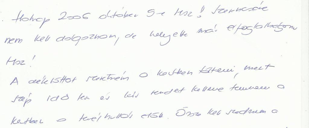 Bika-jegyű férfi írásképe